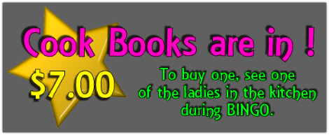 MVFD Ladies Auxiliary Cook Books are for Sale !